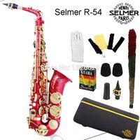 alto mouthpiece - EMS Genuine France Selmer Alto Saxophone R54 Professional E Red Sax mouthpiece With Case and Accessories
