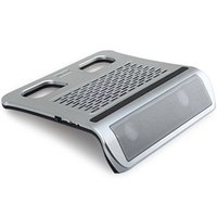 Wholesale New KX Laptop Cooler with Unique Design Silver Notebook Laptop Cooling Pad Silent Luminous Fan with Stand