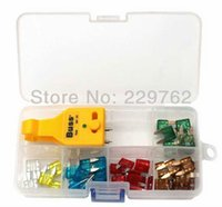 auto fuse tester - mini size car auto blade fuse set with extractor and tester