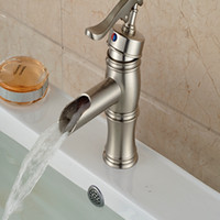 bathroom water pump - And Retail Water Pump Waterfall Spout Bathroom Basin Faucet Brushed Nickel Sink Mixer Tap