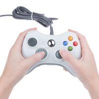 Venta caliente Blanco y Negro con cable USB del regulador del juego de Gamepad Joypad Joystick para Xbox 360 Slim de accesorios de ordenador PC para Windows 7