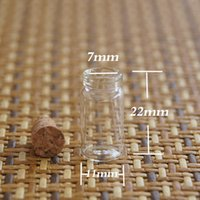 glass bottle with cork - New ml Vials Clear Glass Bottles with Corks Empty Sample Jars Small top quality