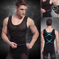 Cheap Men's Vest Tank Top Slimming Shirt Corset Body Shaper Fatty Waist Training Corsets For Men With Girdles Belt Mesh Undershirt