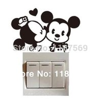 add switch - Min order is Mickey Mouse wall switch decorative posts Add metope vitality Mickey Mouse for you