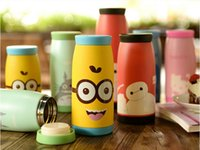 Wholesale Male women s tainless steel vacuum cup portable cup multi capacity potbellied cup water bottle tumbler cartoon drinking water bottle