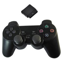 Wholesale New Black GHz Wireless Shock Game Controller for Sony PS2