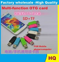 Wholesale Free DHL Universal Micro USB SD Card Reader Micro USB OTG adapter for Android Mobile Phone USB Flash Drive TF Card Reader