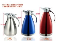 american thermos - European and American high quality stainless steel thermal pot L L vacuum flask thermos coffee garrafa termica caneca termica
