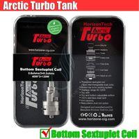 Horizon Arctique Turbo réservoir Mods vapeur RDA bobine sextuple 3.5ml Sous Ohm Haut Turbine SMOK TFV4 mini-uwell couronner Vaporisateur atomiseur DHL