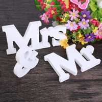 Wholesale 1 Set Persona quot Mr Mrs quot Wooden Letters Wedding Decoration Present Gift Inch Height White order lt no track