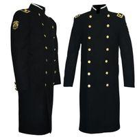 Cheap Fall-Rare MJ Michael Jackson Classic Mato Woolen Black Military Overcoat CAPPOTTO Overcoabout Jacket