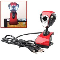 pc camera - 1PC USB M LED PC Camera HD Clip Webcam Camera Web Cam with MIC for Computer PC Laptop Free FG15062