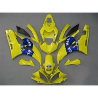 plastic injection molding - Yellow Blue Motorbike Fairing Kits For Yamaha YZF R6 ABS Plastics Aftermarket Motorcycle Bodywork Injection Molding Bodywork