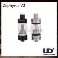 Replaceable 6.0ml Metal UD Youde Zephyrus V2 RTA Sub ohm Tank 6ml Atomizer 0.2ohm 0.3ohm 0.5ohm 0.6ohm 1.8ohm OCC Dual RBA Full SS Ceramic Coil Base 100% Original