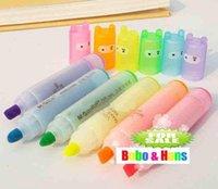 Wholesale 180pcs fluorescent pen Children s stationery New cute Ninja Rabbit fluorescent pen Color Highlighter marker pack
