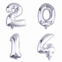 Wholesale 16 inch New Arrival Mylar Foil Figure Balloon Silver Large Figure For Christmas Birthday Party Decoration GNZ