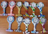 Wholesale colors New Nurse Watch Brooches Silicone Leopard Tunic Batteries Nurse Watch NW002