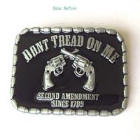 Wholesale DONT TREAD ON ME RBEL Belt Buckle Pride Rebel Flag confederate flag belt buckle southern battle flag belt buckle