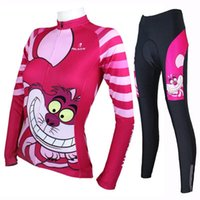 big compress - Pro Cycle Clothing Big Mouth Cat Print Cycling Jersey Sets Anti UV Breathable Compressed Bicycle Jerseys SQ100