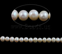 aa grade freshwater pearls - Natural Round Cultured Freshwater Pearl Beads AA grade white color mm Hole Approx mm Sold per Inch Strand