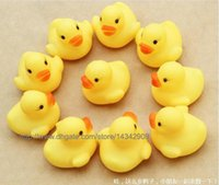 Wholesale 2000pcs New Baby Bath Water Toy toys Sounds Yellow Rubber Ducks Kids Bathe Children Swiming Beach Duck Ducks Gifts