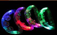 Wholesale LED flashing Tambourine Party supplier light up Tambourine Holiday KTV Tambourine free shiping