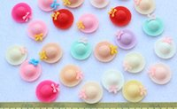 Cheap 200pcs 19mm Flatback Cute assorted Hat Cabs -DIY cell phone decor hair bow and flower centers, embellishment