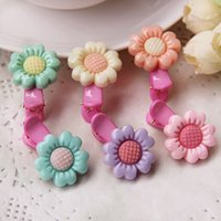 amber sunflower - Fashion Sunflower Baby Hair Barrettes Colorful Sunflower Hair Clips Baby Hair Jewelry