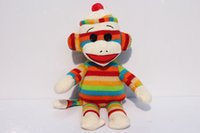 sock monkey - TY beanie babies Plush ruby toy ty monkey plush The original Socks the sock monkey CM baby doll toys gift T3102