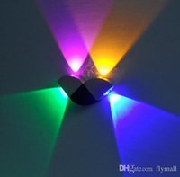 Wholesale Modern W colors butterfly type wall lamp Led Wall Light with Scattering Lights Abstract Geometry Design For Home Decoration Night Light