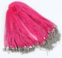 organza ribbon necklace - Grass Fuchsia Organza Voile Ribbon Necklace quot Jewelry DIY Colors
