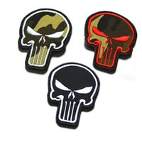 badge military - Exclusive D embroidery Punisher Velcro armband morale color double sided Velcro patch affixed military patches badges free ship Z00727