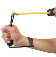 Wholesale Powerful Folding Wrist Slingshot Catapult Hunting High Velocity camping tools