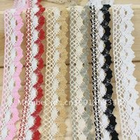 Wholesale NEW LOVELY WHITE COTTON CLUNY LACE TRIM CROCHET MM WIDE WHITE FG782