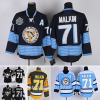 authentic malkin jersey - Top Quality Evgeni Malkin Pittsburgh Penguins Ice Hockey Authentic Jerseys All Stitched Embroidery A Patch M XXXL