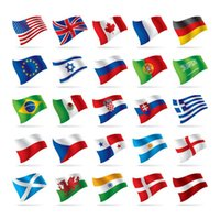 Wholesale 2016 European Cup CM handhold cheering flag Polyester Flag French flag Australia Flag Parade Flag