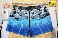 Wholesale w1023 summer new men s swimming trunks generous fashion beach men swimwear tropical palm pattern spa mens swim wear F162