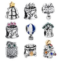 air sterling silver - Unique Fashion Travelling By Hot Air Balloon Sterling Silver European Bead Charm For Snake Bracelet Bangle DIY Women Jewelry
