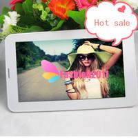 PC 7inch phablet Allwinner A23 2G Téléphone Tablet avec Sim Card Slot 512M + 4G Bluetooth double caméra Android 4.0 Dual Core GSM comprimés 002396