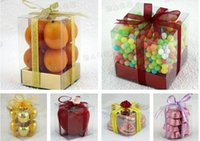 Wholesale AAA Quality cm cm cm Clear PVC Packaging Box Plastic fruit Containers candy Jewelry Gift Box Towel Cake Box