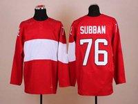 Cheap 2014 Sochi Olympic Hockey Jersey #76 P.K. Subban Red Ice Hockey Jerseys