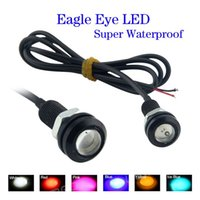 Wholesale 10pcs cm V W DIY Car Parking Lights Eagle Eye Led Reversing Light Waterproof Daytime Running Lights Colors