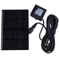 Wholesale New V W Solar Water Fountain Pump for Pond Fish Tank GY D NS EMS DHL FeDex Mail