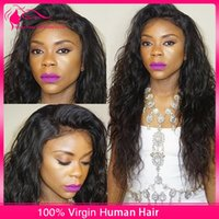 cheap full lace wigs - 8A Cheap Wet And Wavy Lace Front Wigs Unprocessed Malaysian Virgin Water Wave Human Hair Glueless Full Lace Wig For Black Women