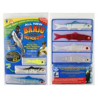 banjo minnow fishing lures - 110pcs set Banjo Minnow Fishing Lures Set Sports Fishing Minnow Lure Bait Set Kit Fishing System Soft Plastic Fishing Lures