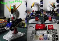 plastic model kits - New Magic Toys Scale RX Nu Gundam Head Plastic Model Kit Children s DIY Birthday Gift Collection