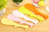Wholesale 500pcs Cute Plastic Handle Squirrel Spoon Vertical Non stick Rice Spoon Creative Rice Shovel DHL