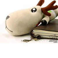 Wholesale Cute Deer in Traffic Police Uniform Large size Car Bamboo Charcoal Bag with Air Freshener Function Car decorations