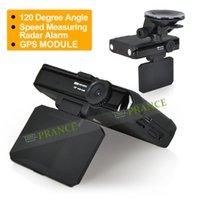 Wholesale 2014 New Arrival inch in GH1 Radar Detector Car DVR GPS Logger Anti Radar Russian Voice Degree G sensor OT15