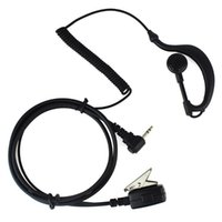 Wholesale C1024A New Black Pin PTT MIC Earpiece Headset for Walkie Talkie Motorola Radio T5920 T5950 T6200 T6210 T6220 T6250 A5